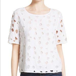 Equipment: Brynn lace silk top. Size L. Like new